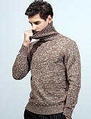 abordables Pantalones y Shorts de Hombre-Hombre Manga Larga Corte Ancho Pullover - Un Color Cuello Alto