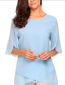 abordables Blusas para Mujer-Mujer Básico Blusa Un Color