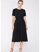 ieftine Rochii de Damă-Pentru femei De Bază Zvelt Pantaloni - Mată Cu Șiret Negru / Stil Nautic