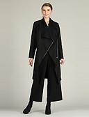 billige Jakke & Trench Coat-Dame Ensfarvet Basale Frakke