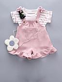 halpa Vauvojen vaatesetit-Vauva Tyttöjen Perus Päivittäin Yhtenäinen Lyhythihainen Normaali Vaatesetti Musta / Taapero