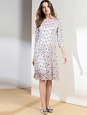 preiswerte Damen Röcke-Damen Anspruchsvoll / Elegant A-Linie Kleid - Spitze / Gespleisst, Blumen Knielang