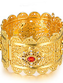 cheap Women's Nightwear-Women's Sculpture Bracelet Bangles Cuff Bracelet - Gold Plated Ethnic Bracelet Gold For Party Gift