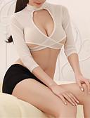 preiswerte Büstenhalter-Damen Sexy Uniformen & Cheongsams / Anzüge Nachtwäsche - Ausgeschnitten Solide / Rundhalsausschnitt