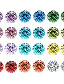 cheap Quartz Watches-Women's Crystal AAA Cubic Zirconia Rope Stud Earrings - Basic Rainbow For Daily / 12 Pairs