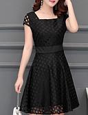 preiswerte Damen Kleider-Damen A-Linie Kleid Solide Knielang