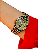 זול קווארץ-בגדי ריקוד נשים נשים שעון יד קווארץ כרונוגרף זורח שעונים יום יומיים סגסוגת להקה אנלוגי מדבקות עם נצנצים צמיד לבן / כסף / זהב - כסף כסף /  שחור נמר / חיקוי יהלום