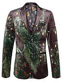 cheap Men's Blazers & Suits-men's going out work blazer-animal floral v neck