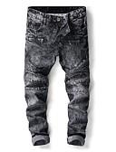 זול מכנסיים ושורטים לגברים-בגדי ריקוד גברים כותנה רזה ג'ינסים מכנסיים - אחיד אפור