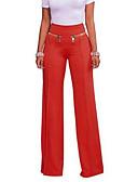 ieftine Pantaloni de Damă-Pentru femei Talie Înaltă Zvelt Picior Larg Pantaloni Mată