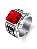 cheap Men's Ties & Bow Ties-Men's Stylish Band Ring - Stainless Steel Punk, Trendy, Hip-Hop 8 / 9 / 10 Black / Red For Gift / Daily