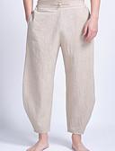 ieftine Maieu & Tricouri Bărbați-Bărbați De Bază Picior Larg Pantaloni Mată