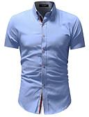 ieftine Tricou Bărbați-Bărbați Cămașă De Bază - Bloc Culoare