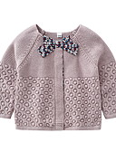 povoljno Haljinice za bebe-Dijete Djevojčice Ulični šik Jednobojni Dugih rukava Džemper i kardigan / Dijete koje je tek prohodalo