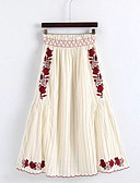 preiswerte Damen Röcke-Damen Ausgehen A-Linie Röcke - Blumen