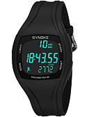 זול שעוני יוקרה-SYNOKE בגדי ריקוד גברים שעוני ספורט שעון דיגיטלי דיגיטלי 50 m עמיד במים לוח שנה כרונוגרף PU להקה דיגיטלי אופנתי שחור / לבן / אפור - כחול כהה אפור ירוק / שעון עצר / זוהר בחושך