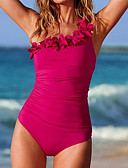 abordables Vestidos de Niña-Mujer Traje de baño Secado rápido Poliéster Nailon Sin Mangas Bañadores Ropa de playa Body Un Color Natación