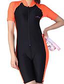 ieftine Quartz-Pentru femei Costum Scufundări din Piele Protecție UV la soare, Uscare rapidă, Respirabil Chinlon / Elastan Manșon scurt Costume de Baie Costum de plajă Salopetă Mată Înot / Snorkeling / Sporturi