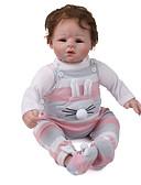 رخيصةأون ساعات موضة-دمى ريبورن Reborn Toddler Doll طفل 22 بوصة مولود جديد نابض بالحياة هدية في طفل للجنسين / للفتيات ألعاب هدية