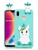 halpa Puhelimen kuoret-Etui Käyttötarkoitus Huawei Huawei P20 / Huawei P20 Pro / Huawei P20 lite DIY Takakuori Yksisarvinen Pehmeä TPU / P10 Lite / P10