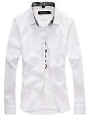 رخيصةأون ربطات العنق للرجال-للرجال قميص عمل سادة / كم طويل