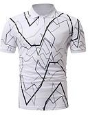 זול חולצות פולו לגברים-גיאומטרי בסיסי מידות גדולות Polo - בגדי ריקוד גברים / שרוולים קצרים