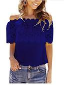 hesapli Bluz-Kadın's Kayık Yaka Salaş - Bluz Solid Dışarı Çıkma Gül kurusu Siyah / Yaz / Sexy