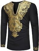 povoljno Muške majice i potkošulje-Majica s rukavima Muškarci - Osnovni Sport / Vikend Geometrijski oblici