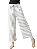 ieftine Pantaloni de Damă-Pentru femei Activ Picior Larg Pantaloni Mată Albastru & Alb