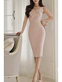 tanie Sukienki-Damskie Podstawowy Szczupła Spodnie - Solidne kolory Rumiany róż / Na jedno ramię