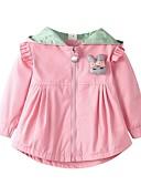 povoljno Vanjska odjeća za bebe-Dijete Djevojčice Aktivan / Osnovni Izlasci Jednobojni / Kolaž Dugih rukava Dug Baloner / Dijete koje je tek prohodalo