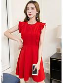 povoljno Dresses For Date-Žene A kroj Haljina Jednobojni Iznad koljena