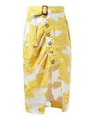 povoljno Ženske suknje-Žene Olovka Izlasci Asimetričan Suknje - Karirani uzorak Visoki struk