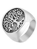 זול תחתוני גברים אקזוטיים-בגדי ריקוד גברים טבעת הטבעת טבעת החותם 1pc כסף פלדת על חלד פאנק טרנדי היפ-הופ יומי רחוב תכשיטים פיסול מגניב