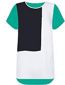 ieftine Tricou-Pentru femei Tricou De Bază - Bloc Culoare