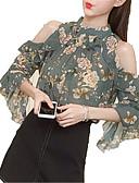ieftine Bluză-Pentru femei Stil Nautic Bluză De Bază - Floral