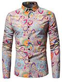 povoljno Muške košulje-Majica Muškarci Dnevno Pamuk Cvjetni print / Dugih rukava