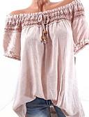 tanie Koszula-Koszula Damskie Podstawowy Z odsłoniętymi ramionami Solidne kolory