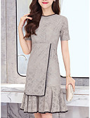 cheap Women's Dresses-Women's Going out / Work Shift Dress Crew Neck