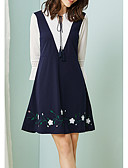 זול שמלות נשים-מעל הברך שמלה גזרת A רזה בגדי ריקוד נשים