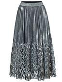 tanie Damska spódnica-Damskie Bawełna Maxi Bodycon Spódnice Solidne kolory