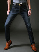 cheap Men's Tees & Tank Tops-Men's Simple / Basic Jeans Pants - Solid Colored