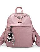 hesapli Kadın Gecelikleri-Kadın's / Unisex Çantalar PU sırt çantası Fermuar için Günlük / Dış mekan Sonbahar Kış Siyah / Doğal Pembe / Gri