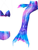 tanie Sukienki dla dziewczynek-Dzieci Dla dziewczynek Aktywny Sport Wielokolorowa Bez rękawów Bawełna Odzież kąpielowa