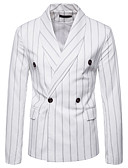 povoljno Ženske haljine-Sako Veći konfekcijski brojevi Muškarci Prugasti uzorak,Zašiljeni rever / Dugih rukava
