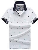 ieftine Tricou Bărbați-Bărbați Guler Cămașă Polo Muncă Geometric / Manșon scurt