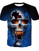povoljno Muške majice i potkošulje-Majica s rukavima Muškarci - Osnovni / Ulični šik Dnevno / Klub Color block / Lubanje Print