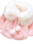 levne Dětské bundičky a kabátky-Dítě Dívčí Základní Denní Tisk Dlouhý rukáv Standardní Polyester S podšívkou Rubínově červená / Toddler