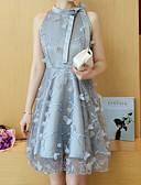 ieftine Dresses For Date-Pentru femei Ieșire Zvelt Teacă Rochie Stil Nautic Lungime Genunchi