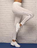 ieftine Curele la Modă-Pentru femei Cu Bretele Pantaloni de yoga - Alb, Negru Sport Spandex Dresuri Ciclism / Leggings Alergat, Fitness, Dans Îmbrăcăminte de Sport Respirabil, Compresie, Comfortabil Strech